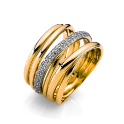 DiamondGroup -  - Ring - Gelbgold, Weißgold