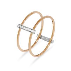 La Preziosa - IO - Ring - Rosegold, Weißgold