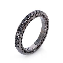 DiamondGroup -  - Ring - Weißgold platiniert schwarz