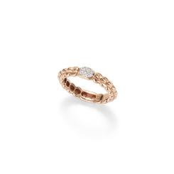 Fope - EKA TINY - Ring - Rosegold, Weißgold