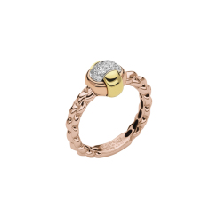 Fope - EKA TINY - Ring - Weiß-, Gelb-, Rosegold