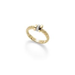 Fope - Prima - Ring - Gelbgold, Weißgold