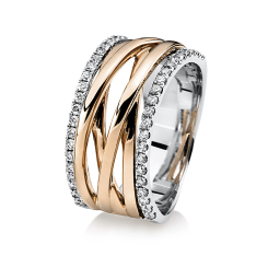 DiamondGroup -  - Ring - Weißgold, Rosegold