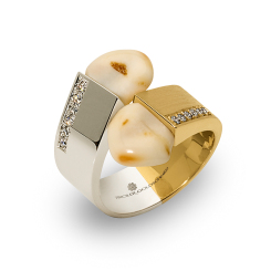 Tiroler Goldschmied -  - Ring - Gelbgold, Weißgold