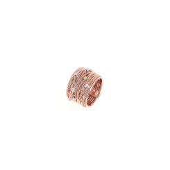 Pesavento - DNA - Ring - platiniert Rhodium & Rosegold