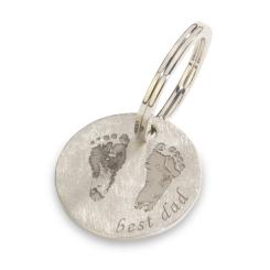 La Preziosa Personalisiert -  - Schlüsselanhänger - platiniert Rhodium