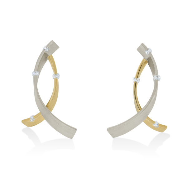 La Preziosa -  - Ohrringe - Weißgold, Gelbgold