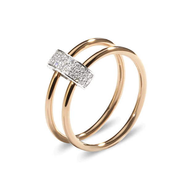 La Preziosa - Allegretto - Ring - Weißgold, Rosegold