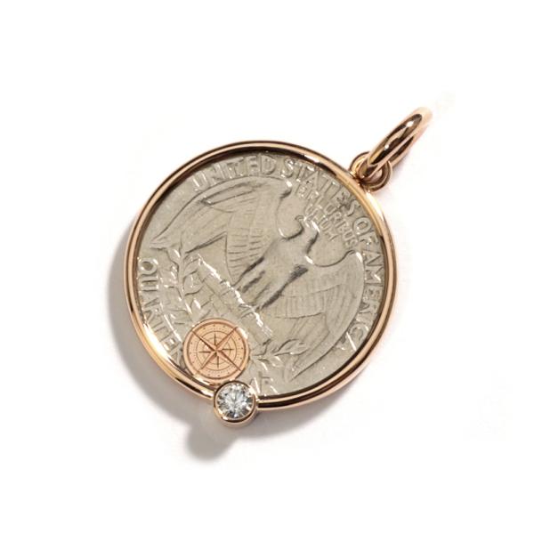 La Preziosa - Coin - Anhänger - Rosegold