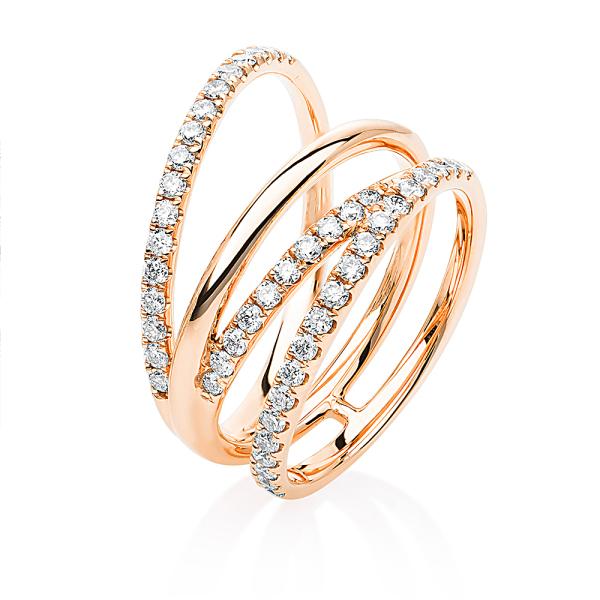 DiamondGroup -  - Ring - Rosegold