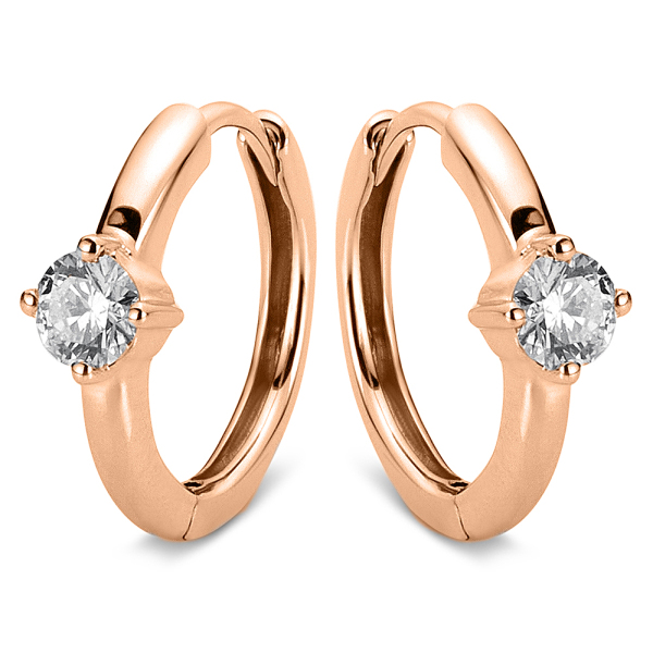 DiamondGroup -  - Ohrringe - Rosegold