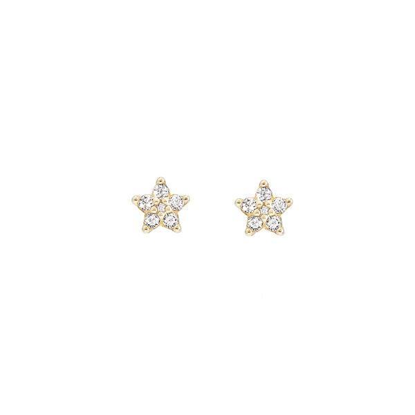 Ole Lynggaard Copenhagen - Shooting Star - Ohrringe - Gelbgold