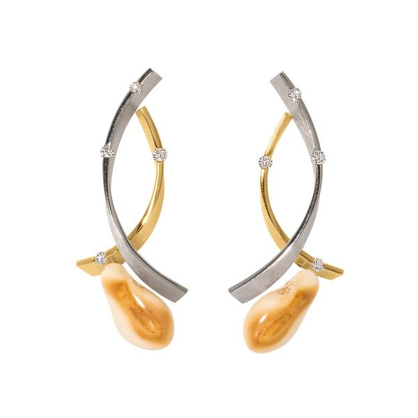 Tiroler Goldschmied -  - Ohrringe - Gelbgold, Weißgold