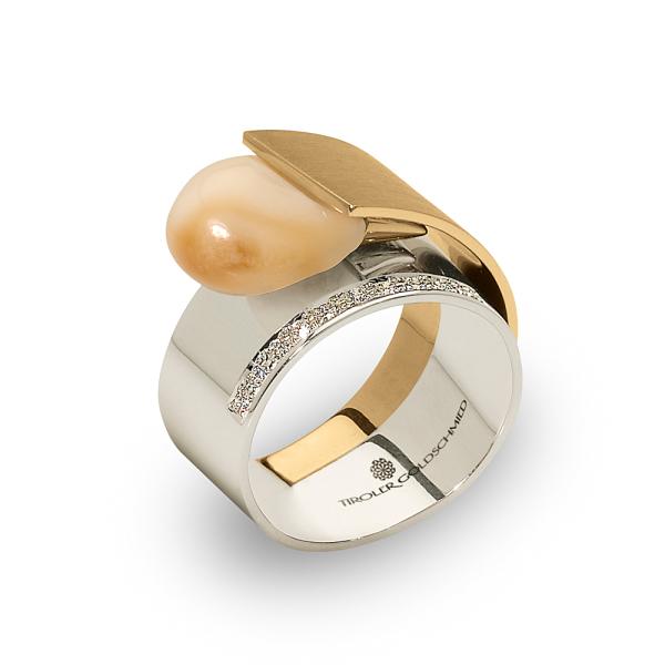 Tiroler Goldschmied -  - Ring - Weißgold, Gelbgold