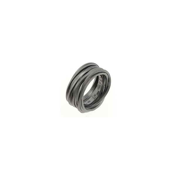 Pesavento - GEO - Ring - platiniert Ruthenium