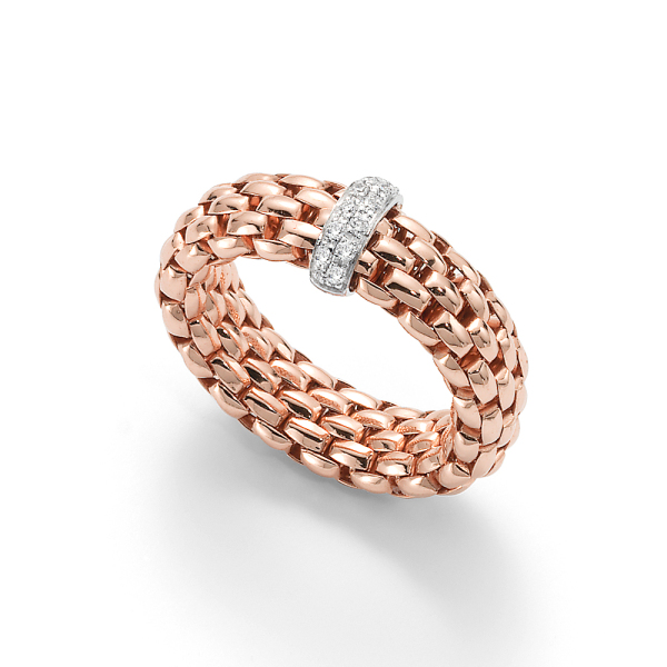 Fope - Flexít Vendome - Ring - Rosegold, Weißgold