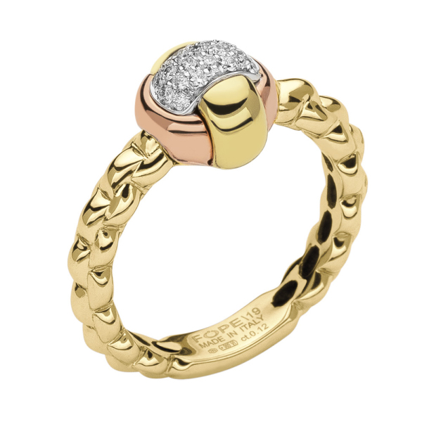 Fope - EKA TINY - Ring - Gelb-, Weiß-, Rosegold