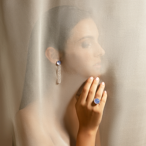 La Preziosa - Blue Ocean - Ring - Weißgold